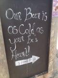 Αστείο σημάδι μπαρ Στοκ Εικόνα