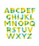 Αστείο συρμένο χέρι χρωματισμένο αλφάβητο ABC Δημιουργική διανυσματική έννοια τυπογραφίας Στοκ φωτογραφία με δικαίωμα ελεύθερης χρήσης