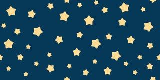 Αστείο σχέδιο αστεριών μωρών άνευ ραφής Στοκ Φωτογραφίες
