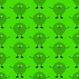 Αστείο σχέδιο μήλων Στοκ φωτογραφία με δικαίωμα ελεύθερης χρήσης