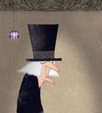 Αστείο σχέδιο μελανιού Scrooge Στοκ Φωτογραφίες