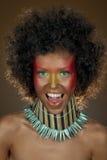 αστείο τρίχωμα κοριτσιών afro στοκ εικόνα