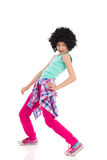 αστείο τρίχωμα κοριτσιών afro Στοκ Φωτογραφία