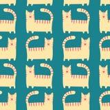 Αστείο υπόβαθρο γατακιών σχεδίων Στοκ φωτογραφία με δικαίωμα ελεύθερης χρήσης