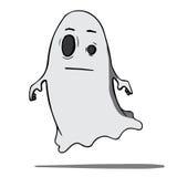 Αστείο φάντασμα κινούμενων σχεδίων. Διανυσματική απεικόνιση Στοκ Εικόνες