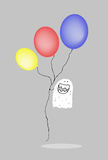 Αστείο φάντασμα με τα μπαλόνια Στοκ φωτογραφία με δικαίωμα ελεύθερης χρήσης