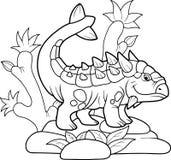 Αστείο Ankylosaurus πήγε για έναν περίπατο Στοκ Εικόνα