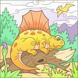 Αστείο Dimetrodon, αστεία εικόνα Στοκ Φωτογραφία