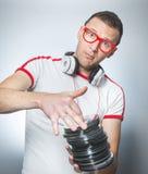 Αστείο DJ με τα CD Στοκ εικόνα με δικαίωμα ελεύθερης χρήσης