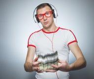 Αστείο DJ με τα CD Στοκ εικόνες με δικαίωμα ελεύθερης χρήσης