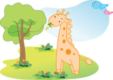 αστείο giraffe Στοκ Εικόνες