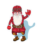 αστείο santa Αφίσα υποβάθρου ευχετήριων καρτών Χριστουγέννων επίσης corel σύρετε το διάνυσμα απεικόνισης Στοκ εικόνα με δικαίωμα ελεύθερης χρήσης