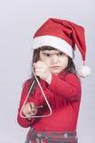 αστείο santa κοριτσιών Στοκ φωτογραφία με δικαίωμα ελεύθερης χρήσης