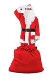 αστείο santa χαιρετισμών Claus Στοκ Φωτογραφίες