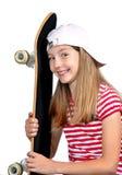 αστείο skateboard κοριτσιών Στοκ εικόνα με δικαίωμα ελεύθερης χρήσης