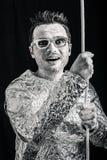 Αστείο spaceman με το σχοινί στοκ εικόνα