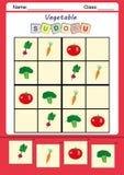 Αστείο sudoku εικόνων για τα παιδιά Στοκ Εικόνα