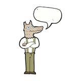 αστείο werewolf κινούμενων σχεδίων με τη λεκτική φυσαλίδα Στοκ φωτογραφία με δικαίωμα ελεύθερης χρήσης