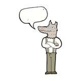 αστείο werewolf κινούμενων σχεδίων με τη λεκτική φυσαλίδα Στοκ Φωτογραφία
