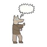 αστείο werewolf κινούμενων σχεδίων με τη λεκτική φυσαλίδα Στοκ Φωτογραφίες