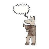 αστείο werewolf κινούμενων σχεδίων με τη λεκτική φυσαλίδα Στοκ φωτογραφίες με δικαίωμα ελεύθερης χρήσης