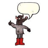 αστείο werewolf κινούμενων σχεδίων με τη λεκτική φυσαλίδα Στοκ εικόνα με δικαίωμα ελεύθερης χρήσης