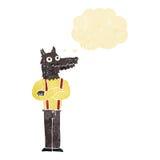 αστείο werewolf κινούμενων σχεδίων με τη σκεπτόμενη φυσαλίδα Στοκ εικόνα με δικαίωμα ελεύθερης χρήσης