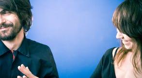 αστειεμένος νεολαίες ζευγών Στοκ εικόνες με δικαίωμα ελεύθερης χρήσης