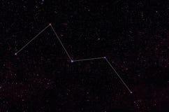 Αστερισμοί Cassiopeia και Cepheus Στοκ Φωτογραφίες