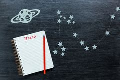 Αστερισμοί Draco Στοκ φωτογραφία με δικαίωμα ελεύθερης χρήσης