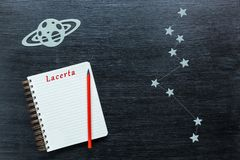 Αστερισμοί Lacerta Στοκ εικόνα με δικαίωμα ελεύθερης χρήσης