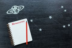 Αστερισμοί Monoceros Στοκ φωτογραφίες με δικαίωμα ελεύθερης χρήσης