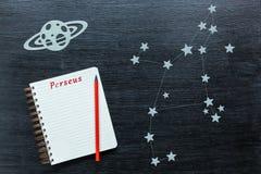 Αστερισμοί Perseus Στοκ εικόνες με δικαίωμα ελεύθερης χρήσης