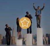 Αστεριών καλή μεγάλη έννοια ανταμοιβής επιτυχίας άριστη Στοκ εικόνα με δικαίωμα ελεύθερης χρήσης