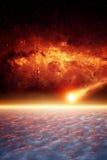 Αστεροειδής αντίκτυπος Στοκ φωτογραφίες με δικαίωμα ελεύθερης χρήσης