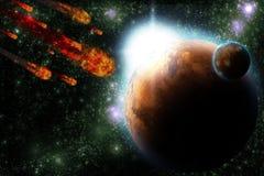 αστεροειδής γήινος πλα& απεικόνιση αποθεμάτων