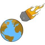 Αστεροειδής σύγκρουση διανυσματική απεικόνιση