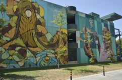 Αστικά ζωηρόχρωμα γκράφιτι Στοκ Εικόνα