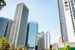 Αστικά σπίτια στη σύγχρονη περιοχή της πόλης Guangzhou Στοκ Εικόνες