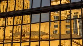 Αστικές αντανακλάσεις στο Γουίνστον-Σάλεμ Στοκ φωτογραφία με δικαίωμα ελεύθερης χρήσης