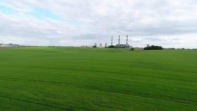 Αστικές εγκαταστάσεις θερμικής παραγωγής ενέργειας Εναέρια έρευνα απόθεμα βίντεο