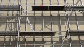 αστικές εργασίες θερμικής μόνωσης ανακαίνισης σπιτιών απόθεμα βίντεο