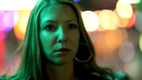 αστικές νεολαίες γυναικών σκηνής πόλεων απόθεμα βίντεο
