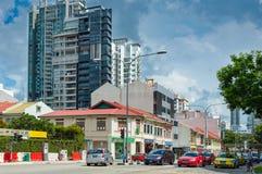 Αστική άποψη στη Σιγκαπούρη Στοκ Εικόνες