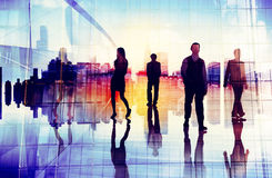 Αστική έννοια ομάδας οργάνωσης σκηνής επιχειρηματιών Στοκ Εικόνες