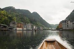 Αστική έννοια ποταμών της Κίνας γύρου βαρκών Στοκ Φωτογραφίες