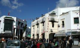 αστική αναταραχή Τυνησία Στοκ φωτογραφία με δικαίωμα ελεύθερης χρήσης