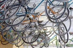 Αστική αναδρομική ποδήλατο, υπηρεσία και ενοίκιο ποδηλάτων στοκ εικόνες με δικαίωμα ελεύθερης χρήσης