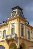 Αστική αρχιτεκτονική MEDIA, Τρανσυλβανία, Ρουμανία στοκ εικόνες