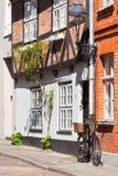 Αστική σκηνή με τη διαμόρφωση του σπιτιού και του ποδηλάτου Στοκ Εικόνα